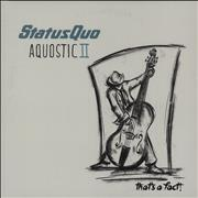 Click here for more info about 'Status Quo - Aquostic II : That's A Fact!'