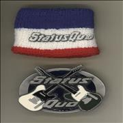 Status Quo Belt Buckle and Sweatband UK memorabilia