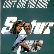 Click here for more info about 'Status Quo - Can't Give You More'