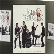 Click here for more info about 'Status Quo - Don't Stop + 2 T-Shirts, Video & Cassette'