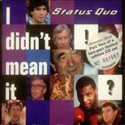 Click here for more info about 'Status Quo - I Didn't Mean It'