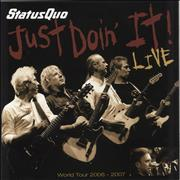Click here for more info about 'Status Quo - Just Doin' It World Tour + Ticket Stub, T-Shirt & Plastic Bag'