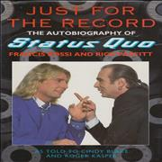 Click here for more info about 'Status Quo - Just For The Record - Autographed'