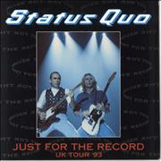 Click here for more info about 'Status Quo - Just For The Record Uk Tour '93 + Stub & T-Shirt'
