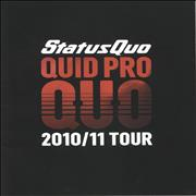 Click here for more info about 'Status Quo - Quid Pro Quo - 2010/11 Tour + Ticket Stub, t-shirt & bag'