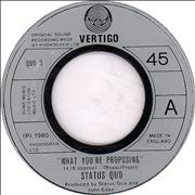 Click here for more info about 'Status Quo - What You're Proposing - Jukebox'