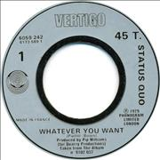 Click here for more info about 'Status Quo - Whatever You Want - Jukebox'