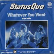 Click here for more info about 'Status Quo - Whatever You Want - P/S'