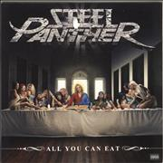Steel Panther All You Can Eat - Yellow/Orange Vinyl USA vinyl LP