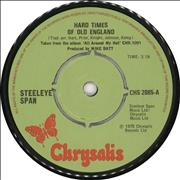 Click here for more info about 'Steeleye Span - Hard Times Of Old England'
