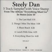 Click here for more info about 'Steely Dan - Everything Must Go Sampler'