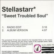 Click here for more info about 'Stellastarr - Sweet Troubled Soul'