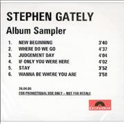 Click here for more info about 'Stephen Gately - Album Sampler'
