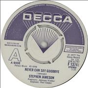 Click here for more info about 'Stephen Jameson - Never Can Say Goodbye - A Label'