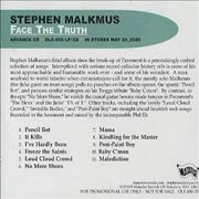 Click here for more info about 'Stephen Malkmus - Face The Truth'