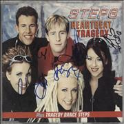 Click here for more info about 'Steps - Heartbeat/Tragedy - Fully Autographed'