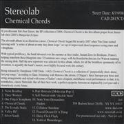 Click here for more info about 'Stereolab - Chemical Chords'
