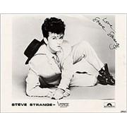 Steve Strange Steve Strange - AUTOGRAPHED UK memorabilia Promo