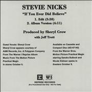 Click here for more info about 'Stevie Nicks - If You Ever Did Believe - 2-track'