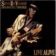 Stevie Ray Vaughan Live Alive - Gold stamped UK 2-LP vinyl set
