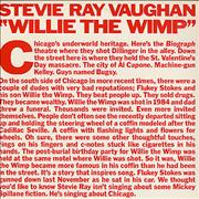 Click here for more info about 'Stevie Ray Vaughan - Willie The Wimp'