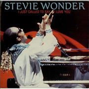 Click here for more info about 'Stevie Wonder - I Just Called To Say I Love You - Picture sleeve'