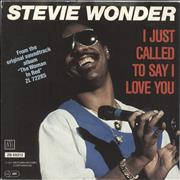 Click here for more info about 'Stevie Wonder - I Just Called To Say I Love You'
