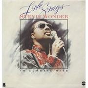 Stevie Wonder Love Songs UK vinyl LP