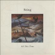 """Sting All This Time UK 7"""" vinyl"""