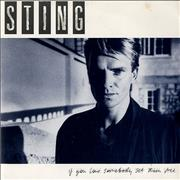 "Sting If You Love Somebody Set Them Free UK 7"" vinyl Promo"