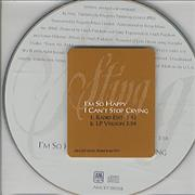 Sting I'm So Happy I Can't Stop Crying USA CD single Promo