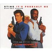 Sting It's Probably Me UK CD single