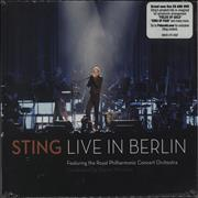 Sting Live In Berlin Germany 2-disc CD/DVD set