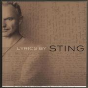 Click here for more info about 'Sting - Lyrics'