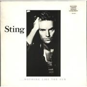 Sting Nothing Like The Sun + Lyric Insert UK 2-LP vinyl set