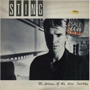 Sting The Dream Of The Blue Turtles - price stickered p/s UK vinyl LP