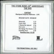 Click here for more info about 'Stone Roses - The Stone Roses - 20th Anniversary DVD'