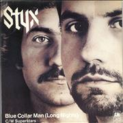 Click here for more info about 'Styx - Blue Collar Man [Long Nights] - Blue Vinyl'
