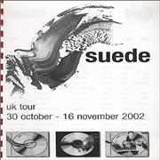Click here for more info about 'Suede - 2002 UK Tour - Tour Itinerary'