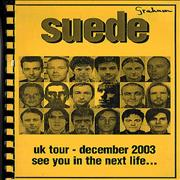 Click here for more info about 'Suede - 2003 UK Tour - Tour Itinerary'