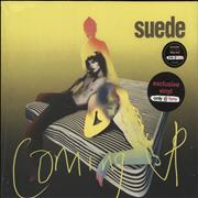 Click here for more info about 'Suede - Coming Up - Neon Pink Vinyl - Sealed'