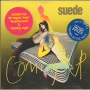 Click here for more info about 'Suede - Coming Up - Stickered'