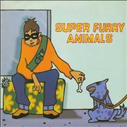 Click here for more info about 'Super Furry Animals - Play It Cool - Poster Sleeve - EX'