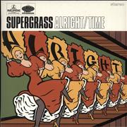 Click here for more info about 'Supergrass - Alright - Orange Vinyl'