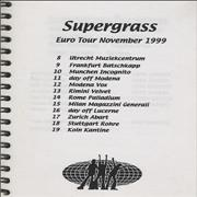 Click here for more info about 'Supergrass - Euro Tour November 1999 - Tour Itinerary'