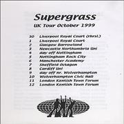 Click here for more info about 'Supergrass - UK Tour October 1999'