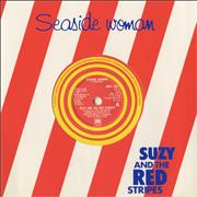 "Suzy And The Red Stripes Seaside Woman - Yellow - Die Cut Slv UK 7"" vinyl"