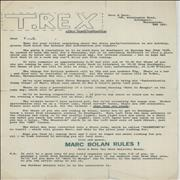 Click here for more info about 'T-Rex / Tyrannosaurus Rex - Fan Club Newsletters & Memorabilia'