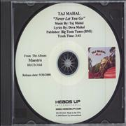 Click here for more info about 'Taj Mahal - Never Let You Go'