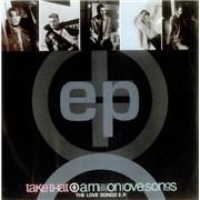 """Take That A Million Love Songs E.P. UK 7"""" vinyl"""